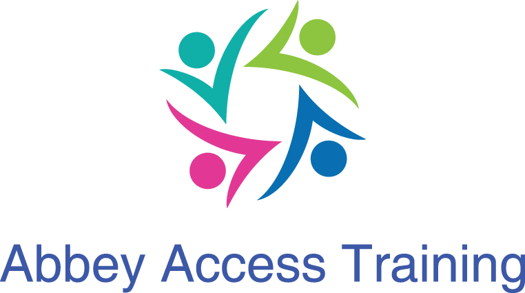 4 abstract people swirling together. Abbey access training logo